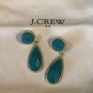 JCrew jade drop earrings -fashion jewelry
